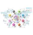 business doodle color labels shape infographic vector image