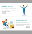 business success businessman with prize pages vector image vector image