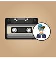 cassette vintage man style hipster vector image vector image