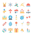 Christmas and Easter Colored Icons 4 vector image vector image