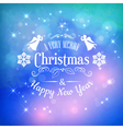 Christmas Greeting Card with Typography vector image