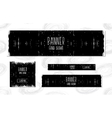 Collection of black and white Web Banners vector image vector image