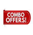 combo offers banner design vector image vector image