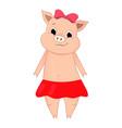 cute pig cartoon doodle vector image