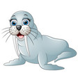 cute walrus cartoon vector image
