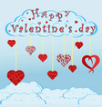 decorated in different 2 hearts for valentines vector image
