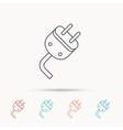 Electric plug icon Electricity power sign vector image vector image