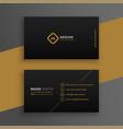 elegant black dark business card design template vector image vector image