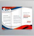elegant red and blue wave business tri fold vector image vector image