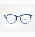 eyeglass frame one line isolated design element vector image vector image