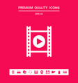 film strip with play graphic elements for your vector image vector image