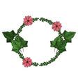 flowers wreath symbol vector image