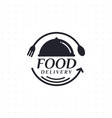 food delivery in black color vector image vector image