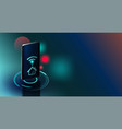 futuristic smart home technology controlling vector image vector image