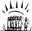 Group with Rays vector image vector image