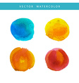 Hand painted watercolor texture vector image
