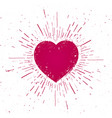 handdrawn heart symbol icon on grunge background vector image vector image