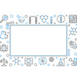horizontal frame with chemistry icons line vector image vector image