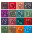 Icons box vector image vector image
