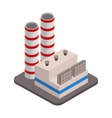 Isometric industrial factory buildings icon vector image vector image