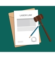 legal concept of labor law vector image vector image