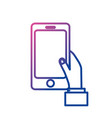 line smartphone technology communication in the vector image vector image