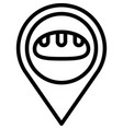 location pin icon bakery and baking related vector image vector image