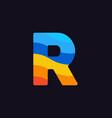 logo letter r colorful blue red orange vector image