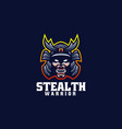 logo stealth warrior e sport and sport style vector image