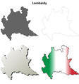 Lombardy blank detailed outline map set vector image vector image
