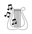 lyre instrument icon vector image