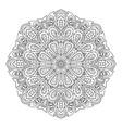 mandala doodle drawing round ornament ethnic vector image
