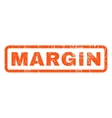 Margin Rubber Stamp vector image