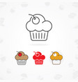 muffin icon vector image vector image