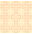 Neutral floral ornament beige color vector image vector image
