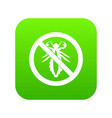 no louse sign icon digital green vector image vector image