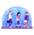 office people go to work concept vector image