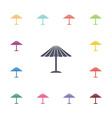 parasol mask flat icons set vector image vector image