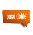 paso doble orange 3d speech bubble vector image vector image