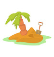 pirate island icon cartoon style vector image