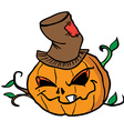 pumpkin head 1 vector image