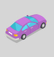 purple car window isolated vector image vector image
