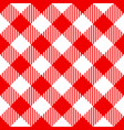 red check diagonal seamless pattern vector image vector image