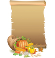 Retro background Thanksgiving vector image