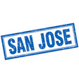 San Jose blue square grunge stamp on white vector image