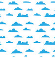 seamless pattern with hand drawn clouds design vector image