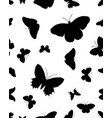 seamless silhouettes of butterflies vector image vector image
