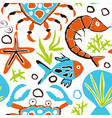 seamless underwater pattern vector image vector image