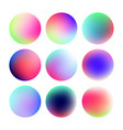set of round color gradient vector image vector image