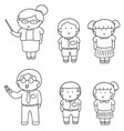 set of teacher and student vector image vector image